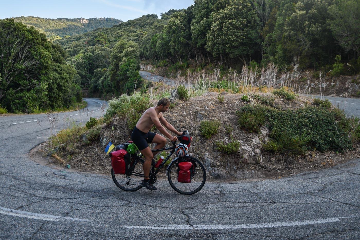 Путешествие на велосипеде по Корсике, Франция - Аяччо